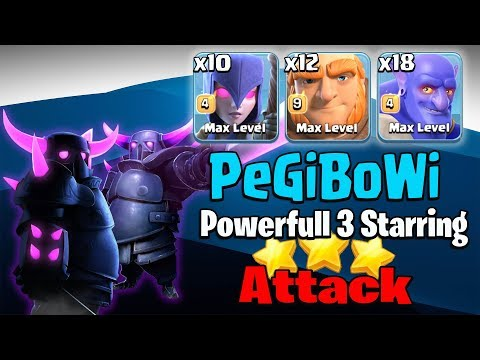 Max Pekka+10 Witch+18 Bowler+12 Giant = PeGiBoWI Powerfull 3Star 3 inferno TH12 Base | Clash Of Clan
