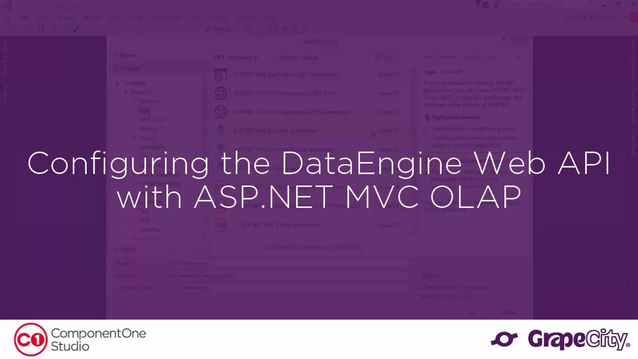Configuring the DataEngine Web API with ASP NET MVC OLAP