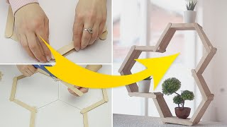 DIY Wall Planter Shelving | Popsicle Stick crafting Idea