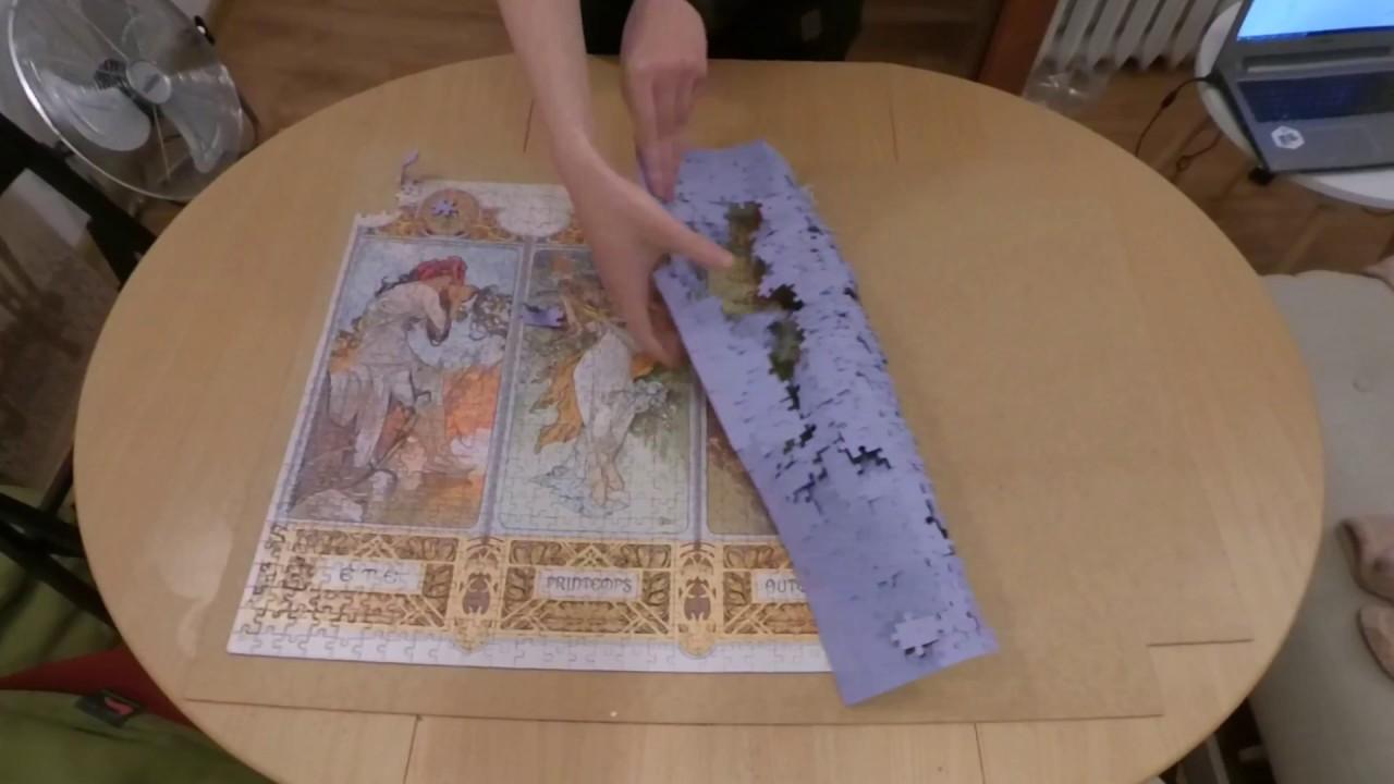 Jigsaw Puzzle Mucha 1000 Piece Clementoni The 4 Seasons Art Alphonse