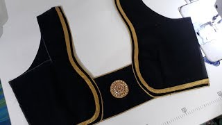 simple and beautiful  blouse design stitching with lase