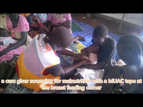 breast feading corners in Adjumani response by World Vision Uganda