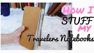 How to Stuff Your Traveler's Notebook
