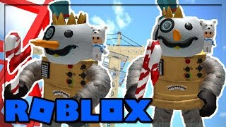 ROBOT SNOWMAN THROWING KNIVES IN ROBLOX! (Knife Simulator)