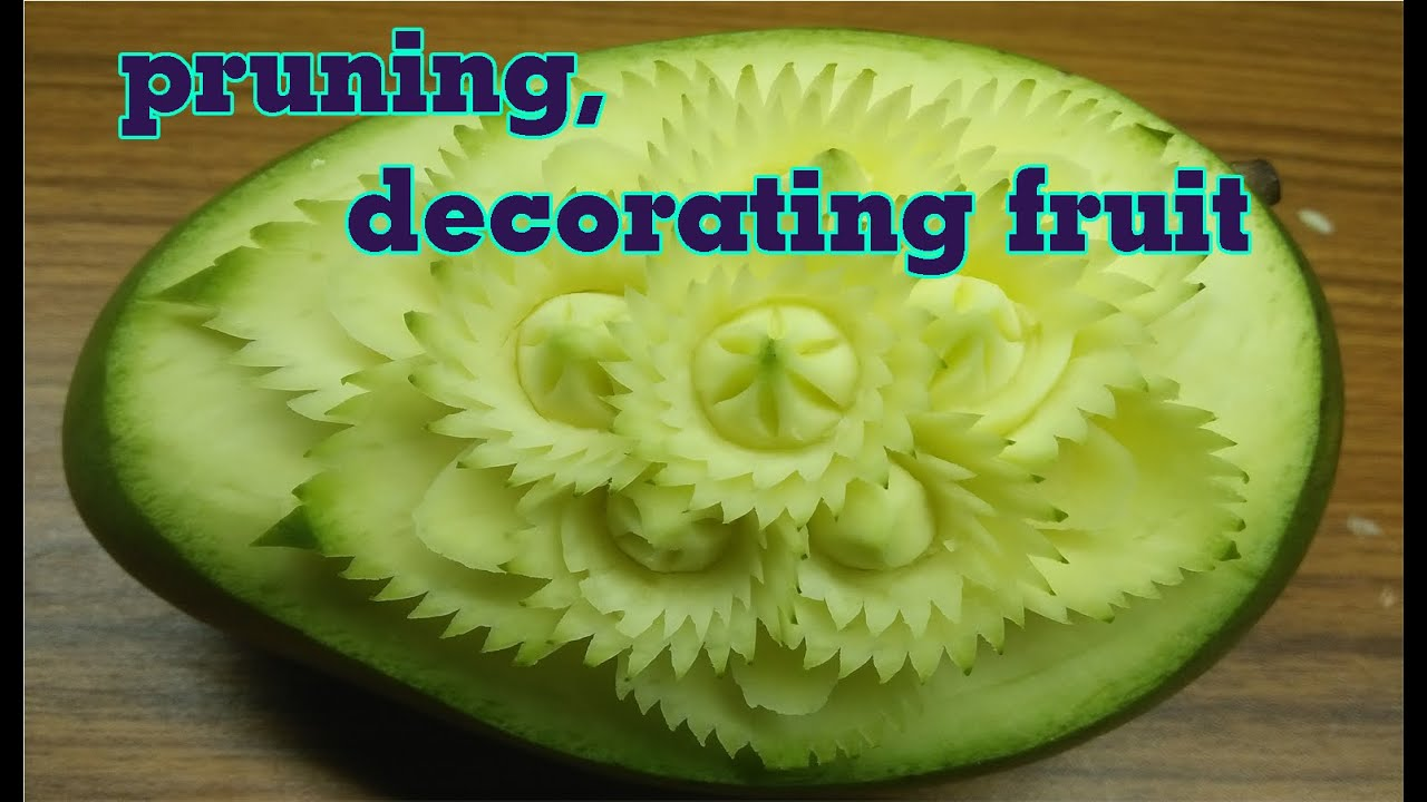 #51 Simple trimming, for beginners | carving fruits | Art ...