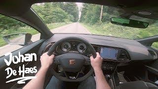 Seat Leon CUPRA R MANUAL TRANSMISSION 310hp POV test drive on country roads