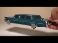JCARWIL PAPERCRAFT 1981 Cadillac Fleetwood Brougham Limo (Building Paper Model Car)