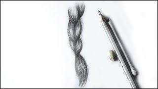 Уроки рисования. Как нарисовать КОСИЧКУ.  Простой способ рисования волос(В этом уроке вы научитесь рисовать реалистичные волосы, как добавлять тени и блики на волосы. ▻ Скачайте..., 2015-09-04T14:13:15.000Z)