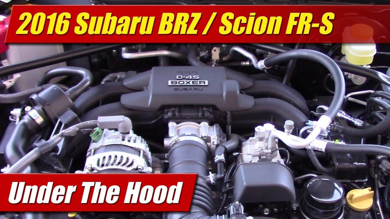 hight resolution of under the hood 2016 subaru brz scion fr s testdriven tv subaru impreza boxer engine diagram subaru brz boxer engine diagram