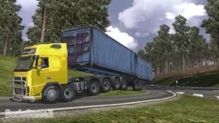 Euro Truck Simulator 2 Volvo Caterpillar Looooong Trailer
