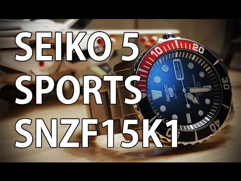 Seiko 5 Sports SNZF15K1 - Review, Measurements, Lume - A Great Little Brother to the SKX009