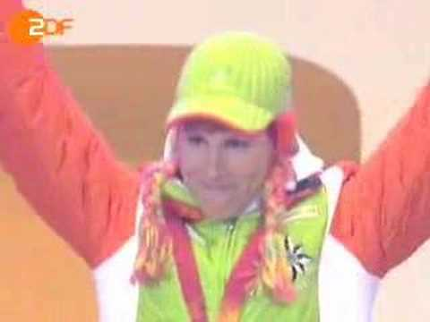 Biathlon victory ceremony XX Olympic Winter Games torino