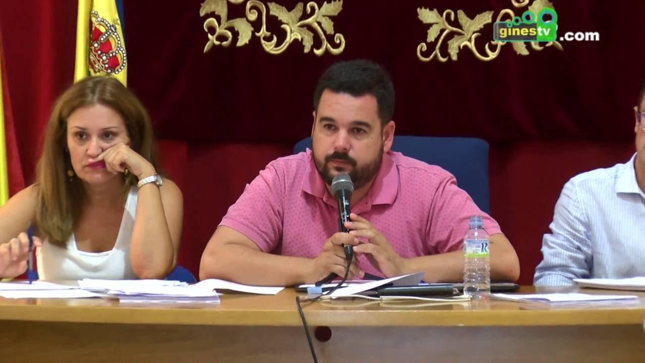 Pleno Ordinario del Ayuntamiento de Gines 27 de septiembre de 2016