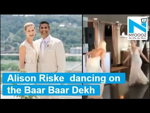 American Tennis Player Alison Riske Dances To Bollywood Song On Her Wedding Youtube