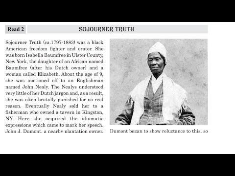 English Std 12  Unit   07  Read   2  Sojourner Truth   Purvanil Education