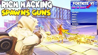 Rich Hacker Spawns Any Gun! 😱 (Scammer Gets Scammed) Fortnite Save The World