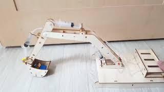 [헬로마켓] - 다관절 굴삭기 모형(나무소재)(2500…