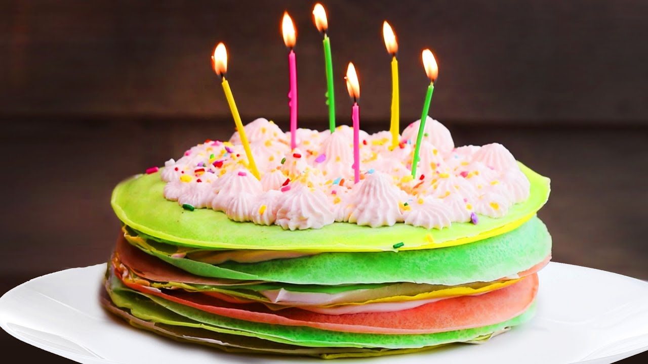 Rainbow Crepe Cake Birthday Cake Ideas Rainbow Cake Recipes by