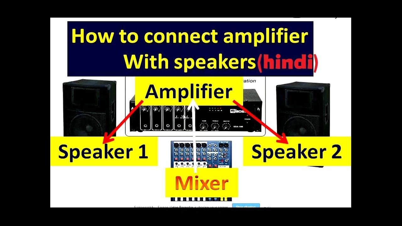 how to connect speakers with amplifier ohm power matching [ 1280 x 720 Pixel ]