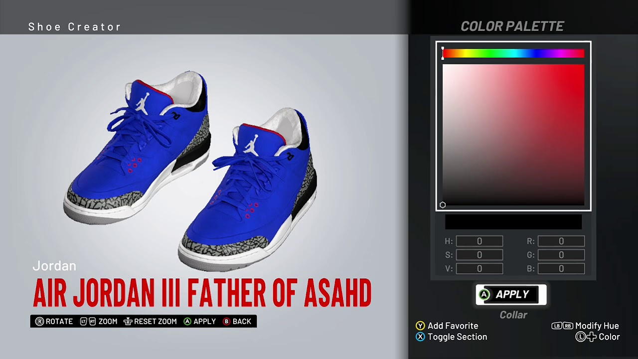 new arrival 21836 560a4 NBA 2K19 Shoe Creator - Air Jordan 3 PE