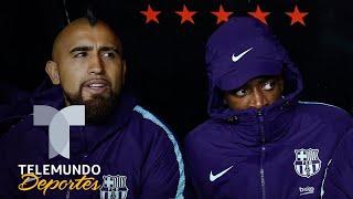 Arturo Vidal le enseña el camino a seguir a Ousmane Dembélé | La Liga | Telemundo Deportes
