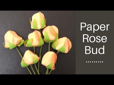 DIY: paper rose flower || easy rose bud bouquet making || easy flower making tutorial step by step