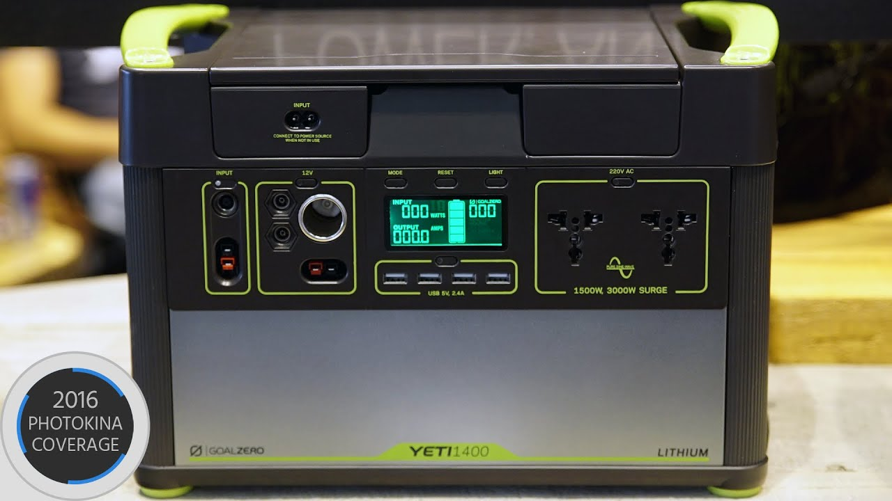 Yeti 1400 Lithium Solar Generator Power Anything