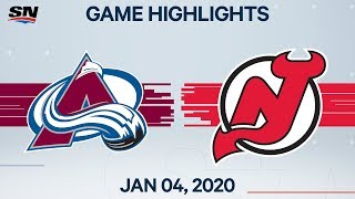 NHL Highlights   Avalanche vs Devils - Jan. 04, 2020
