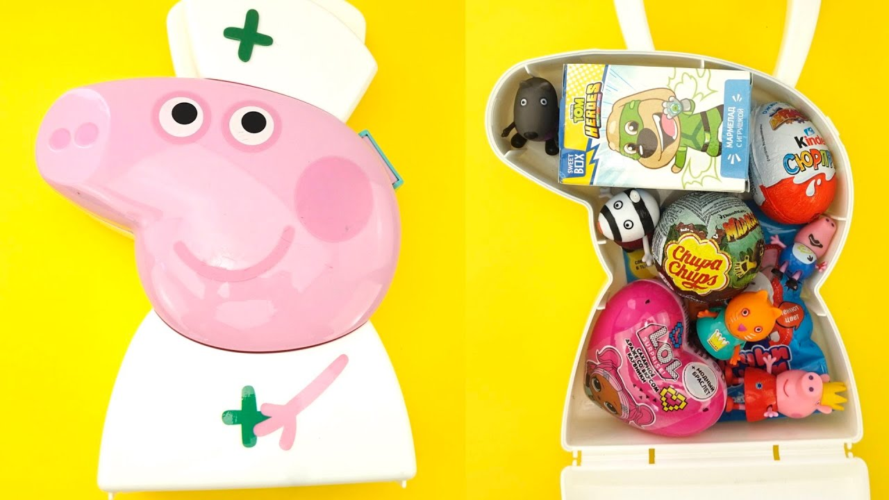 Сюрпризы и игрушки в коробке Свинка Пеппа