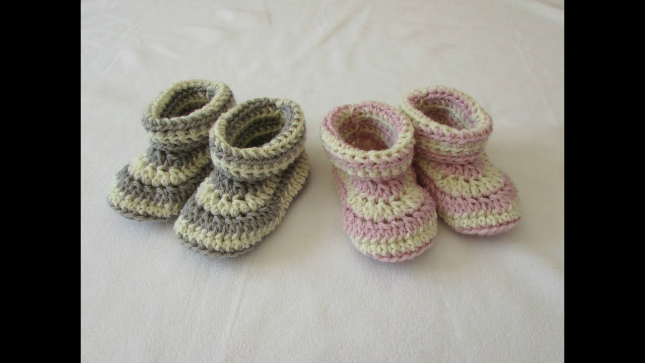 How To Crochet Children S Cuffed Booties Shoes