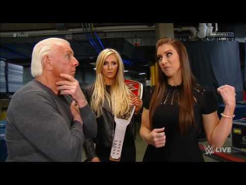Stephanie McMahon, Charlotte, & Ric Flair Backstage thumbnail