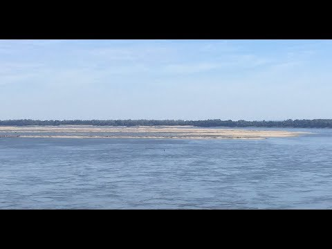 NEW - Giant sandbars appear on LOW Mississippi River above New Madrid  | S America Roll