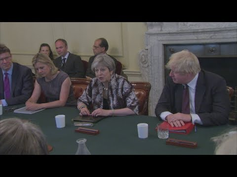 May tells new cabinet she's had 'productive' DUP discussions