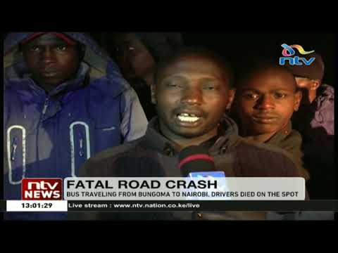 10 people die after Greenline bus collided with a lorry at Kamara, Molo