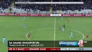 Sivasspor 2 - 1 Trabzonspor Maçı Geniş Özeti Full HD 1080p ( Ziraat Türkiye Kupası ) 17-04-2013