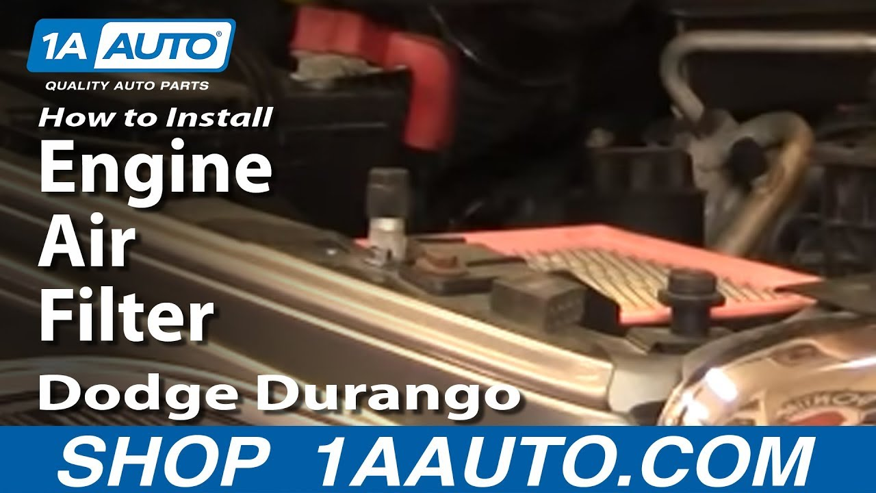 how to install replace engine air filter dodge durango 04
