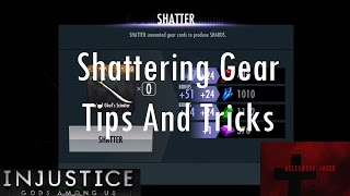 Injustice Gods Among Us - Shattering Gear Tips and Tricks