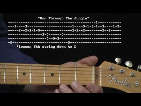 """Run Through The Jungle"" by Creedence Clearwater Revival : 365 Riffs For Beginning Guitar !!"