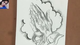 Praying Drawing Hands