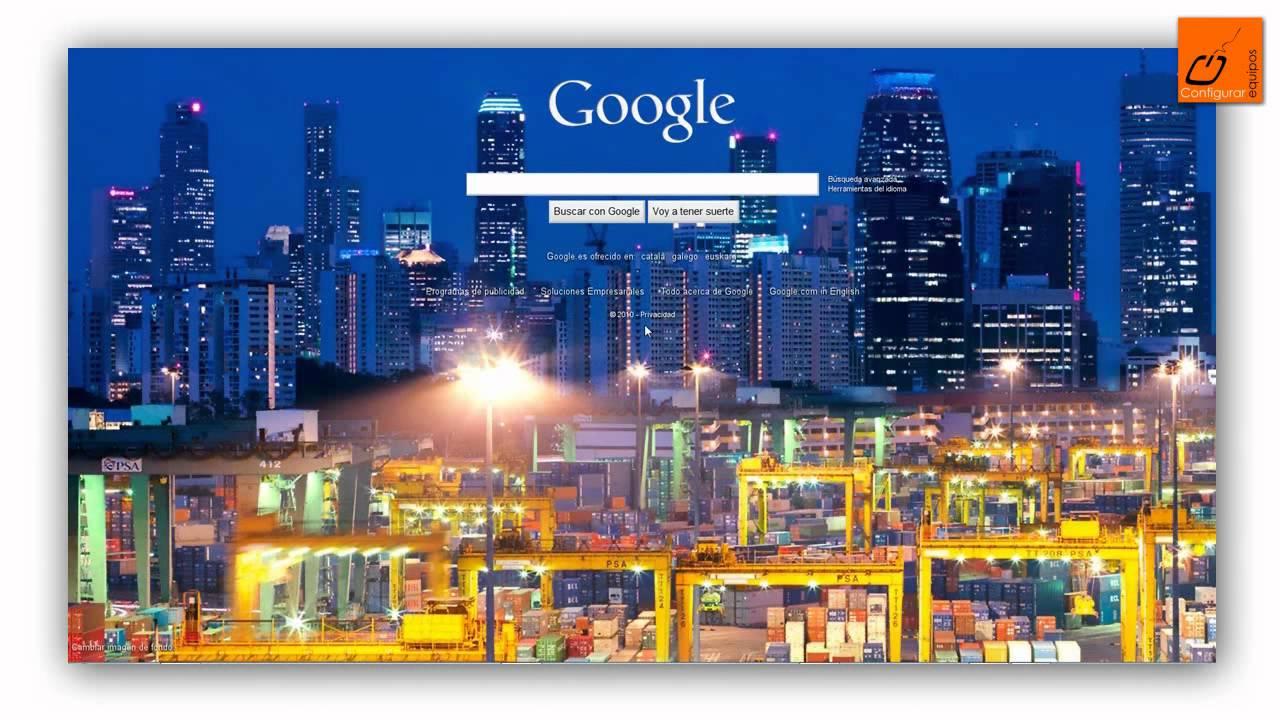 Cambiar imagen de fondo de Google (página inicio Google