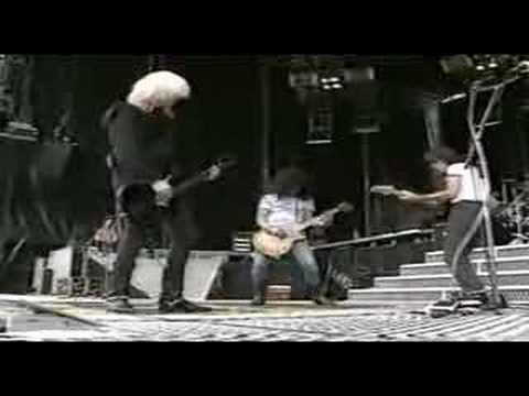 """Slash & Duff GNR """"Locomotive"""" rehearse with Aerosmith"""