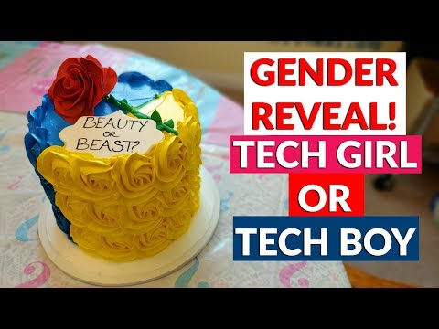 YouTube Tech Guy Gender Reveal Cake For The New Tech Baby - Tech Boy or Tech Girl?