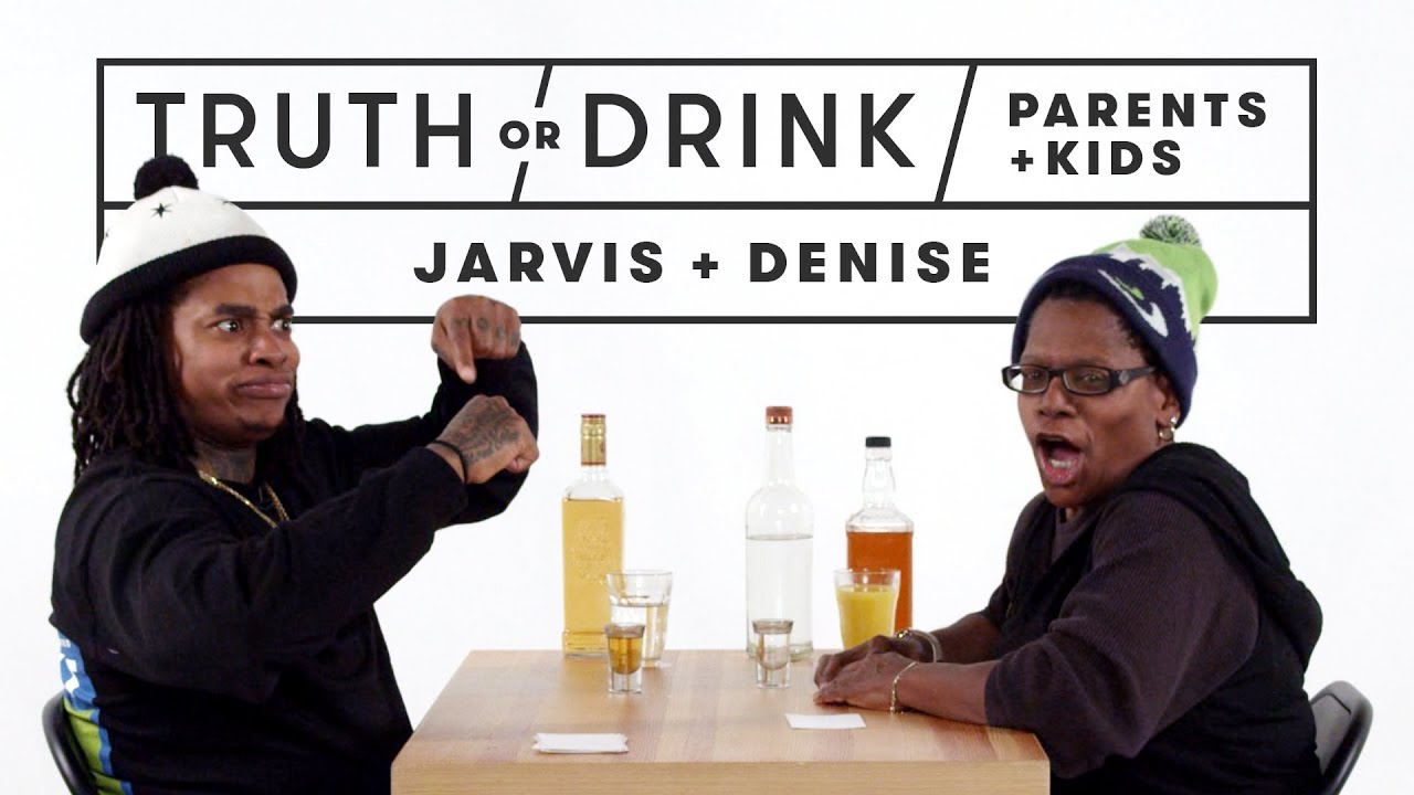 Parents & Kids Play Truth or Drink (Jarvis & Denise) | Truth or Drink | Cut