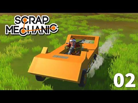 02 - Manual Transmission Sports Car Tutorial   Scrap Mechanic Let