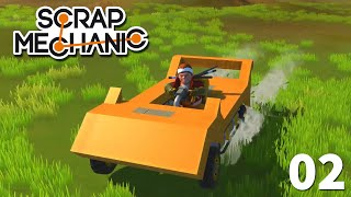 02 - Manual Transmission Sports Car Tutorial | Scrap Mechanic Let's Play with Lyte