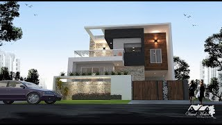 32x65 House Plan with Elevation | South Facing | 2 Story | G+1 | Visual Maker