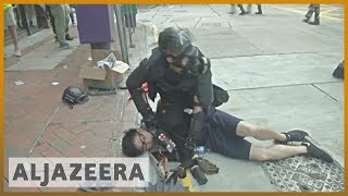 Hong Kong protester shot in the chest by police during clashes