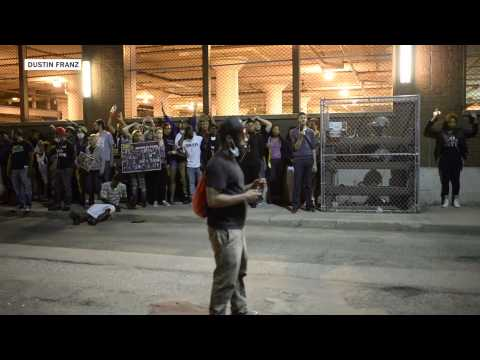 Protests flare in Cleveland after acquittal of officer
