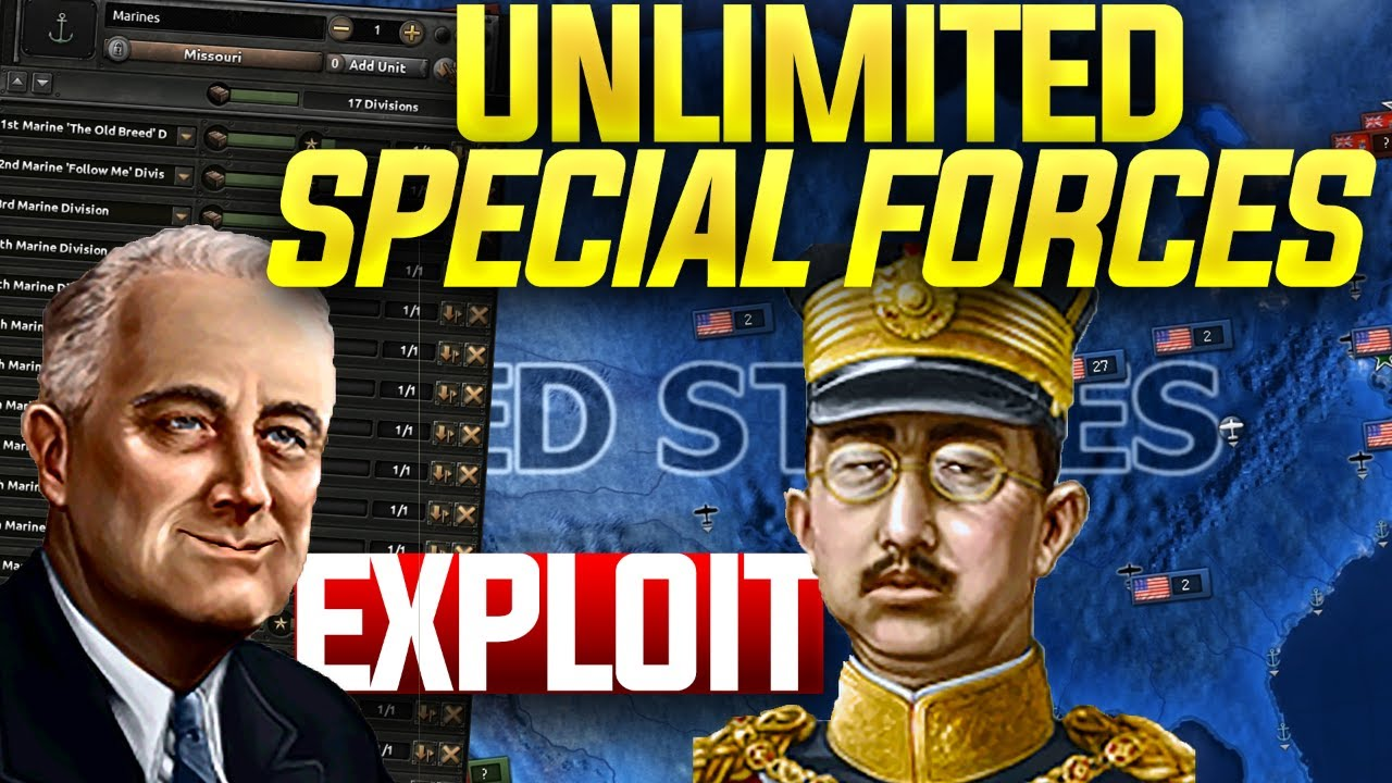 HOI4 Exploit: Unlimited Special Forces (hearts of iron 4 Waking the Tiger  Exploit tutorial)