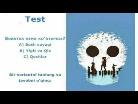 Suratda nimani ko'rdingiz Psixologik test | Суратда нимани курдингиз психологик тест